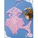 ピンクのランジェリー ベビードール&ショーツ コスチューム 写真2