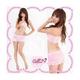 ピンクのランジェリー 3点セット セクシースカートセット - 縮小画像1