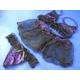 リボン&レース 可愛い紫ランジェリーセット ブラ&Tバック - 縮小画像3