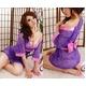 コスプレ 全レース紫色の豪華着物 浴衣 和物 - 縮小画像1