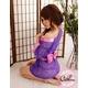 コスプレ 全レース紫色の豪華着物 浴衣 和物 - 縮小画像2