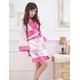 コスプレ ピンクセット 豪華な花柄着物 浴衣 - 縮小画像1