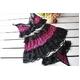 リボン&黒レース 可愛いピンクの豹柄ランジェリー ブラ&Tバック - 縮小画像6