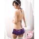 ガーター付スカートのランジェリーセット 紫のフリル&レース 写真2