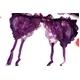 紫のランジェリー 花びらのフリル ガーターベルト&ブラ&ショーツ 写真3