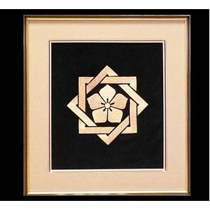 坂本 龍馬の家紋刺繍額 - 拡大画像