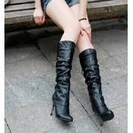 2010秋冬商品♪ 超可愛いロングブーツ☆ブラック【37】(23.0cm〜23.5cm)