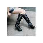 2010秋冬商品♪ 超可愛いロングブーツ☆ブラック【38】(23.5cm〜24.0cm)