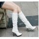 2010秋冬商品♪ 超可愛いロングブーツ☆ホワイト【34】(21.5cm〜22.0cm) 写真2