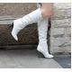 2010秋冬商品♪ 超可愛いロングブーツ☆ホワイト【35】(22.0cm〜22.5cm)