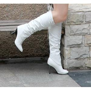 2010秋冬商品♪ 超可愛いロングブーツ☆ホワイト【38】(23.5cm〜24.0cm)