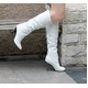 2010秋冬商品♪ 超可愛いロングブーツ☆ホワイト【39】(24.0cm〜24.5cm) 写真1