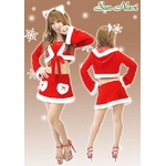 【クリスマスコスプレ】【サンタクロース 衣装】クリスマスサンタ・ショートドレス S407
