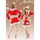【クリスマスコスプレ】【サンタクロース 衣装】クリスマスサンタ・ショートドレス S407 - 縮小画像2