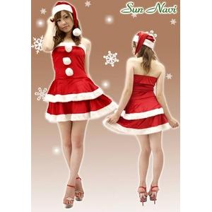 【新作!クリスマス☆コスチューム】☆クリスマスサンタ・ショートドレス S401☆