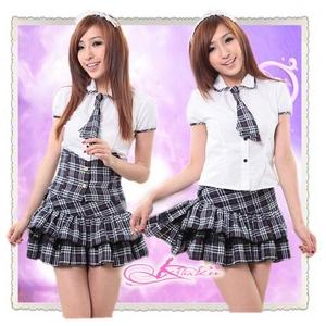コスプレ フリルスカートの学生服*セーラー服*OL服 - 拡大画像