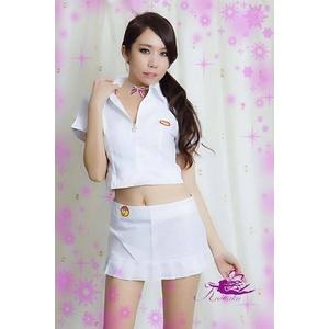 コスプレ 学生服*ミニスカートの白の制服コスプレ