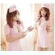 コスプレ ナース服*背中蝶リボンピンクの看護婦コスプレ 写真1