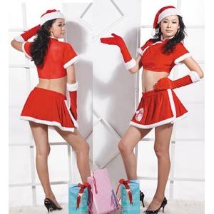 【サンタクロース コスプレ 衣装】コスプレ クリスマス*グローブ付サンタコスプレ - 拡大画像