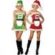 【サンタクロース コスプレ 衣装】コスプレ ベルト付クリスマスサンタさんコスプレ→両面着用可 - 縮小画像1