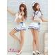 コスプレ 2011新作 胸元セクシーミニスカセーラー服 3点セット 写真2