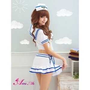 コスプレ 2011新作 胸元セクシーミニスカセーラー服 3点セット