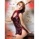 コスプレ 2011新作 黒×赤刺繍セクシーチャイナドレス - 縮小画像2