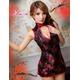 コスプレ 2011新作 黒×赤刺繍セクシーチャイナドレス - 縮小画像3