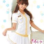 コスプレ 2011新作 白×ゴールド女子高生制服セット