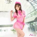 コスプレ 2011新作 ピンクのセクシーミニスカCA・スチュワーデス5点セット