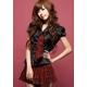コスプレ 2011新作 黒ブラウス×チェックミニスカ制服セット - 縮小画像1
