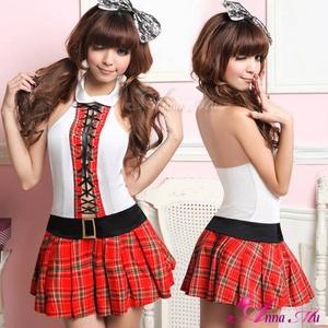 コスプレ 2011新作 セクシーミニスカ女子高生セーラー服セット - 拡大画像