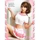 コスプレ 2011新作 セクシーミニスカ女子高生セーラー服セット - 縮小画像4