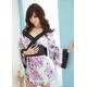 コスプレ 紫*花柄仕上げ優雅な着物コスプレ 写真2