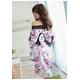 コスプレ 紫*花柄仕上げ優雅な着物コスプレ 写真3