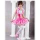 コスプレ ピンク×白*パニエ内臓スカートのゴスロリ衣装(3点入り) 写真2