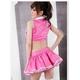 コスプレ ピンク×白*パニエ内臓スカートのゴスロリ衣装(3点入り) 写真3