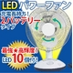 高輝度LED10灯! 充電式 LEDパワーファン【停電でも安心】 写真1