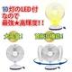 高輝度LED10灯! 充電式 LEDパワーファン【停電でも安心】 写真4