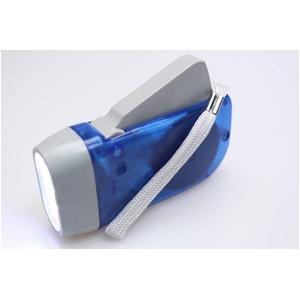 コンパクトで持ち運びに便利 グリップダイナモライト(懐中電灯) ブルー