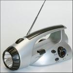 ダイナモ ラジオ&ライト/地震/災害対策/防災/ 手巻き発電