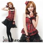 コスプレ 2011新作 赤チェックの可愛いドレス コスチューム/C417