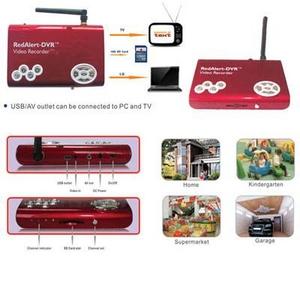 ワイヤレス赤外線LEDカメラセット 音声マイク搭載SDカード録画機能 4チャンネル受信 FS-WRC100