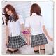 コスプレ 蝶リボンのスクール 学生服【黒×白】 - 縮小画像1