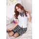 コスプレ 蝶リボンのスクール 学生服【黒×白】 - 縮小画像4