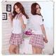 コスプレ 蝶リボンのスクール 学生服【ピンク】 - 縮小画像1