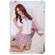 コスプレ 蝶リボンのスクール 学生服【ピンク】 - 縮小画像3
