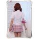 コスプレ 蝶リボンのスクール 学生服【ピンク】 - 縮小画像5
