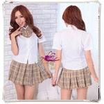 コスプレ 蝶リボンのスクール 学生服