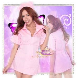 コスプレ ピンクの看護婦のナース * - 拡大画像